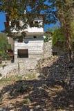 老房子从19世纪在梅利尼克,保加利亚镇  免版税库存图片
