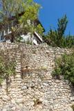 老房子从19世纪在梅利尼克,保加利亚镇  免版税库存照片