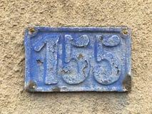 老房子号码155 库存照片