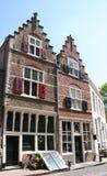 老房子和街道在Veere 图库摄影