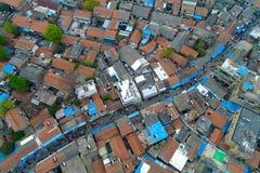 老房子在中国城市 免版税图库摄影