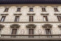 老房子在佛罗伦萨,意大利 库存图片