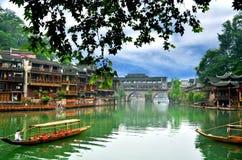 老房子在凤凰牌县在湖南,中国 库存照片
