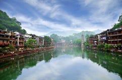 老房子在凤凰牌县在湖南,中国 免版税库存图片