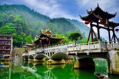 老房子在凤凰牌县在湖南,中国 图库摄影