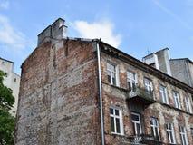 老房子在华沙 库存图片