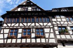 老房子在史特拉斯堡 免版税库存图片