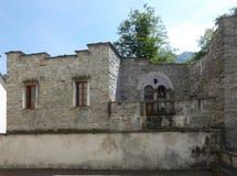 老房子在圣玛丽亚Vigezzo,意大利 免版税库存照片