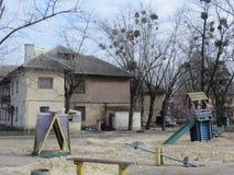 老房子在基辅 免版税图库摄影