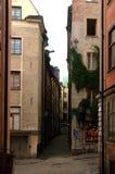 老房子在斯德哥尔摩 免版税库存图片