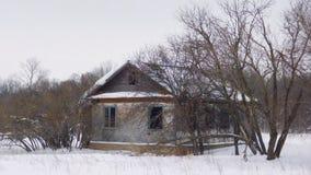 老房子在森林里 免版税库存图片
