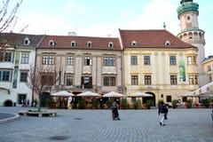 老房子在肖普朗(Ã-denburg),匈牙利 库存图片