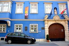 老房子在肖普朗(Ã-denburg),匈牙利 免版税库存照片