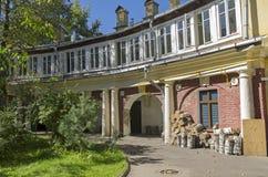 老房子在莫斯科的中心 库存图片
