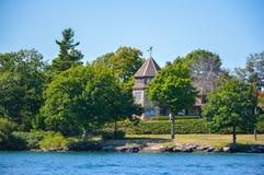 老房子在1000个海岛和金斯敦安大略的,加拿大 库存图片