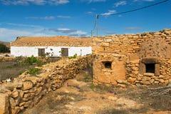 老房子在费埃特文图拉岛 库存图片