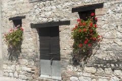 老房子在3月(意大利) 免版税库存图片