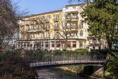 老房子在Baden-Baden,德国 免版税库存照片