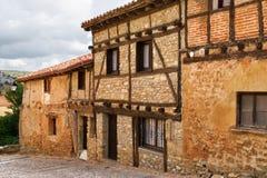 老房子在Calatanazor,索里亚,西班牙 免版税库存照片