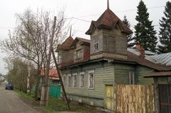 老房子在Galich市 免版税库存图片