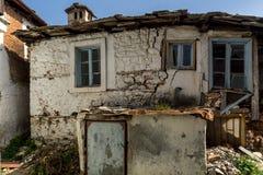 老房子在Panagia村庄, Thassos海岛,希腊 库存照片