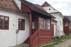 老房子在Schei区1773,罗马尼亚 图库摄影