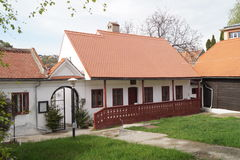 老房子在Schei区1773,罗马尼亚 免版税库存图片