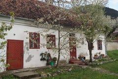老房子在Schei区1773,罗马尼亚 免版税图库摄影