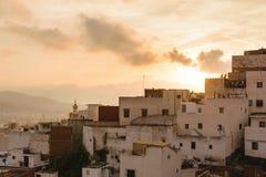 老房子在Tetouan,摩洛哥 免版税库存图片