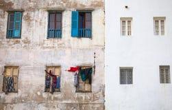 老房子墙壁在唐基尔,摩洛哥麦地那  库存图片