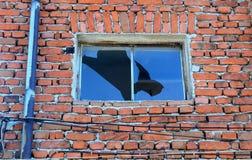 老房子窗口在班斯科, 2015年2月17日的保加利亚 免版税库存图片