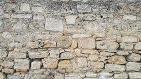 老房子自然石墙,土耳其 免版税库存图片