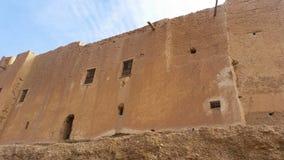 老房子视图在摩洛哥,在墙壁后的生活 库存图片