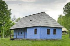 老房子锡比乌罗马尼亚 免版税库存图片