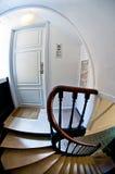 老房子门和台阶 免版税库存图片