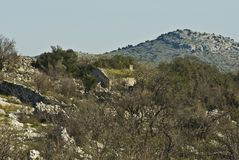 老房子,国立公园 科纳提群岛 克罗地亚 库存照片