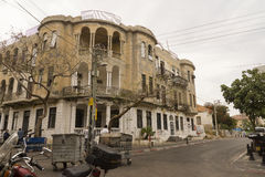 老房子以色列门面  免版税库存图片