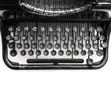 老手工打字机机器,顶视图 库存照片