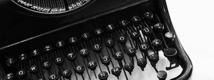 老手工控制台打字机键盘片段 库存照片