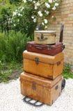 老手提箱 图库摄影