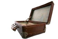 老手提箱 库存图片