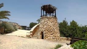 老手表塔在Yad Hashmona,以色列 免版税图库摄影