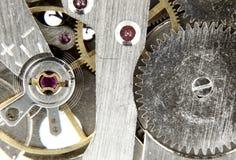 老手表机制 免版税库存照片