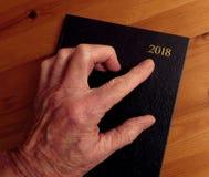 老手,新年,指向 库存图片