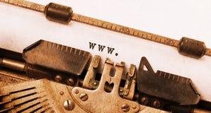 老打字机做的葡萄酒题字 免版税库存照片