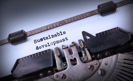 老打字机做的葡萄酒题字 免版税图库摄影