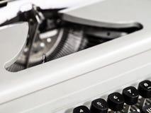 老打字机数字字符钥匙  免版税库存照片