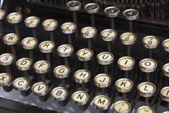老打字机详细资料  免版税库存图片