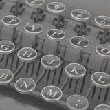 老打字机键盘  免版税库存照片