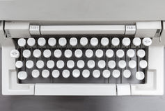 老打字机顶视图 免版税库存照片